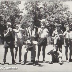 Campeggio dei Salesiani sull'Etna oramai coperto dalla lava ed è l'intervallo di un torneo di calcio