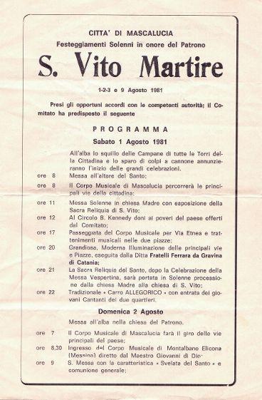 Programma San VITO-1981/1