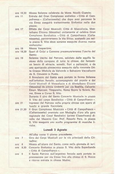Programma San VITO-1981/2