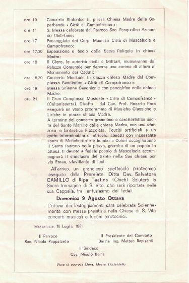Programma San VITO-1981/3